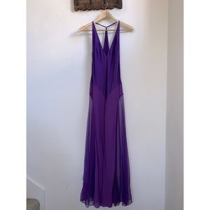 Victoria's Secret | Silk Purple Maxi Dress